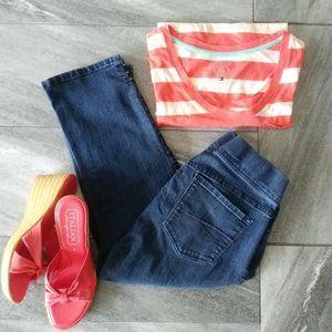 Gloria Vanderbilt Avery Pull On Crop Blue Jeans 6